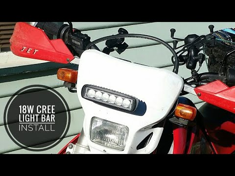 18w cree 6 inch ebay led light bar install and test on a dual sport 18w cree 6 inch ebay led light bar install and test on a dual sport rhk enduro handlebar test aloadofball Gallery