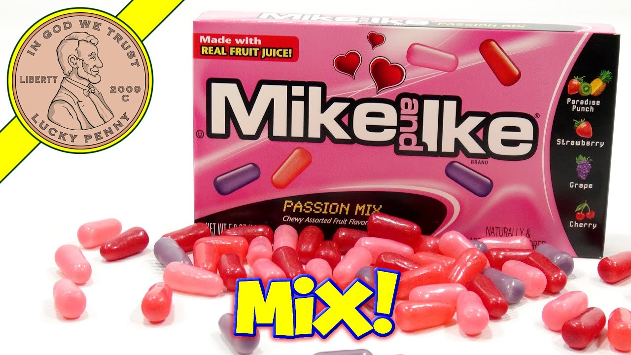 Mike and Ike Passion Mix Chewy Candy - Valentine\'s Gift Box - YouTube