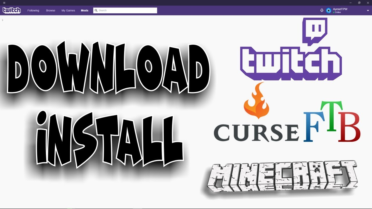 HOW TO DOWNLOAD & INSTALL MINECRAFT MOD PACKS & TWITCH/ CURSE LAUNCHER  UPDATED