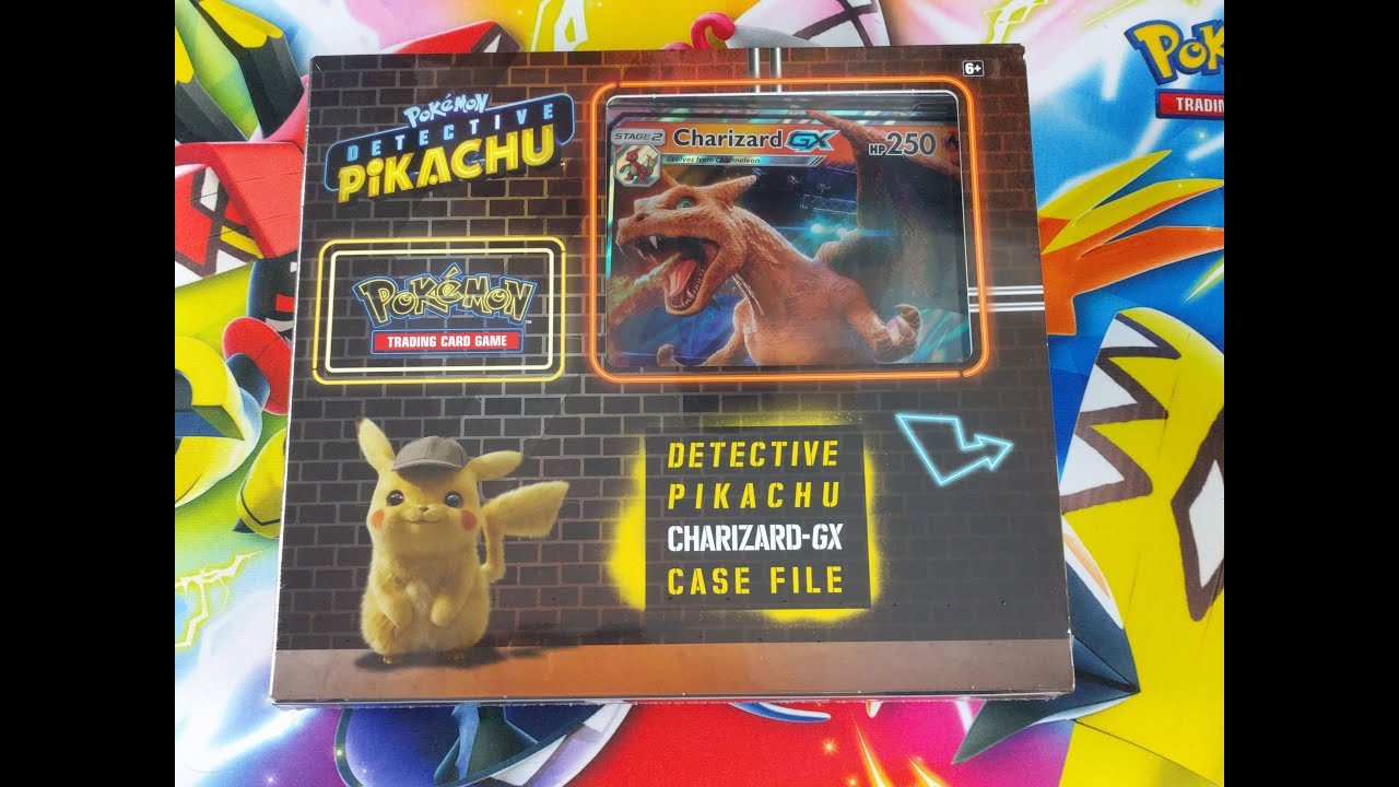 Brand New Detective Pikachu Charizard Gx Case File Opening Early