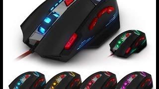 unboxing ZELOTES T-90 gaming mouse | 8 Key 13 Light Mode 9200DPI
