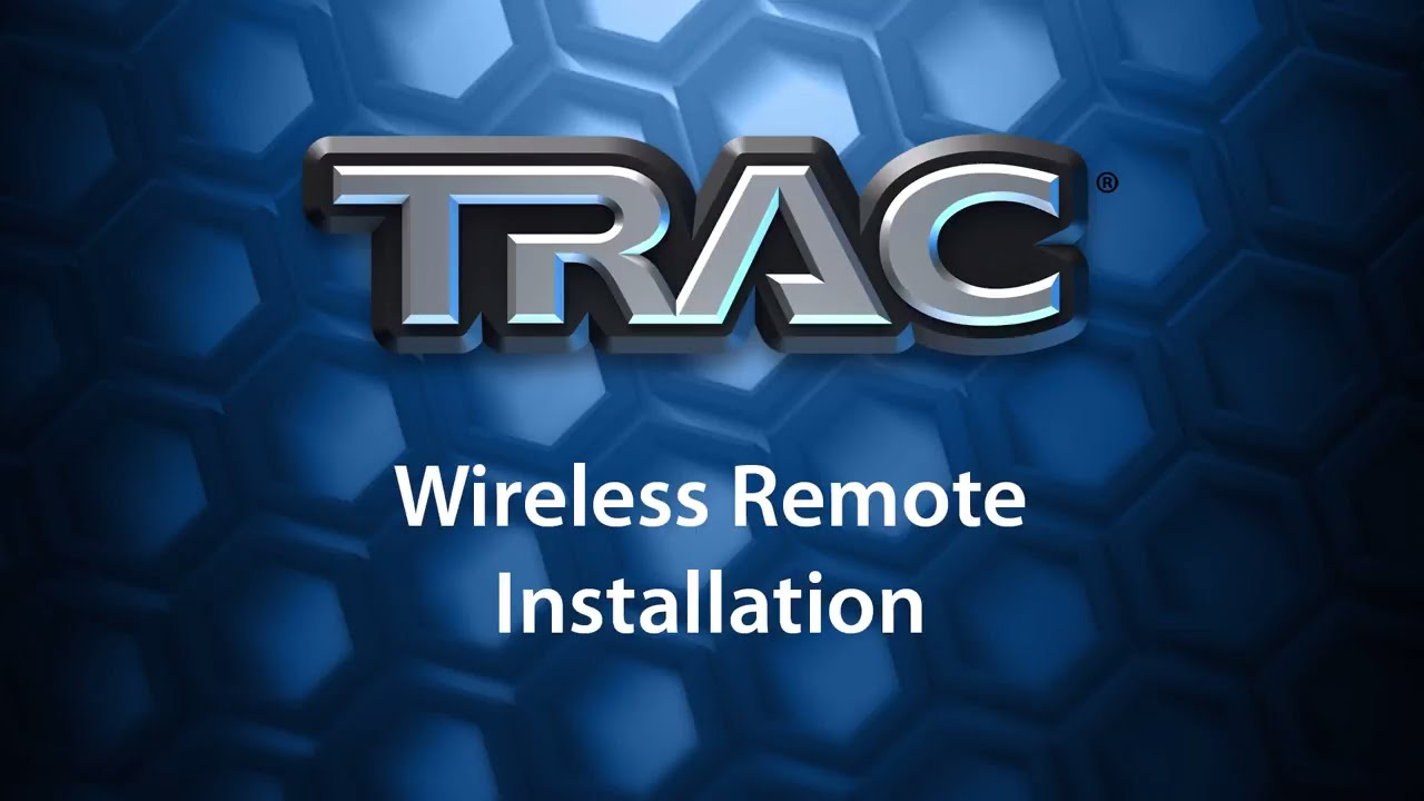 TRAC Wireless Remote Installation - YouTube