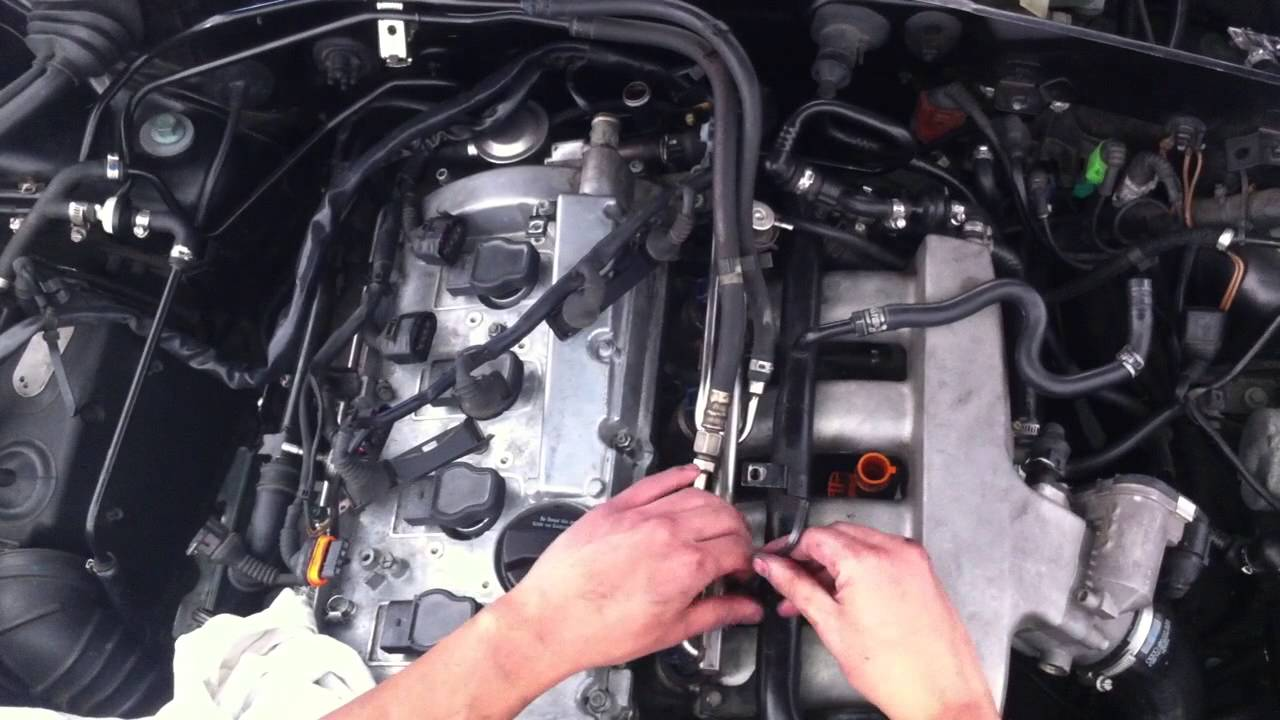 medium resolution of 2001 audi a4 coolant flange replacement