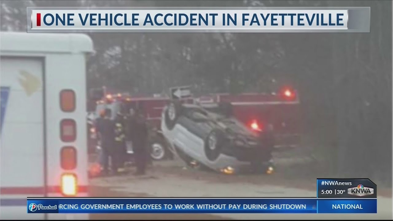 Rollover Crash at Porter Road Exit in Fayetteville (KNWA)