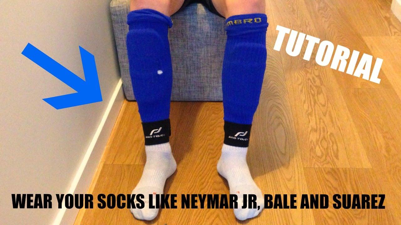a247f7511 How to wear your football socks like a pro Neymar, Bale, Suarez  -Freestyleskills32 - YouTube