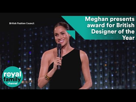 Meghan presents award for British Designer of the Year