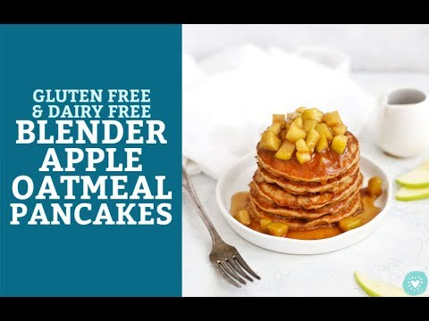 Blender Apple Oatmeal Pancakes (Gluten Free, Dairy Free, Vegan-Friendly)