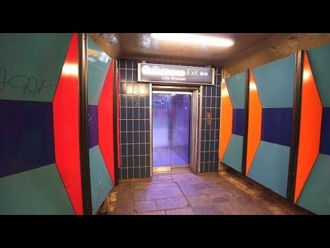 Norway, Oslo, subway ride from Stortinget to Jernbanetorget, 3X elevator, 3X escalator