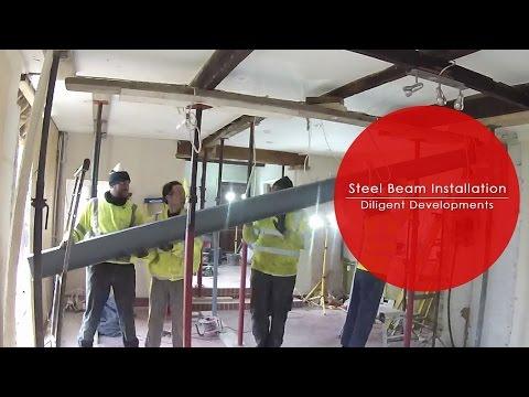 CRASH, BANG, WALLOP - Internal Load Bearing Wall Removal With RSJ Steel Beam Installation