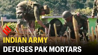 Indian Army defuses live Pak mortars