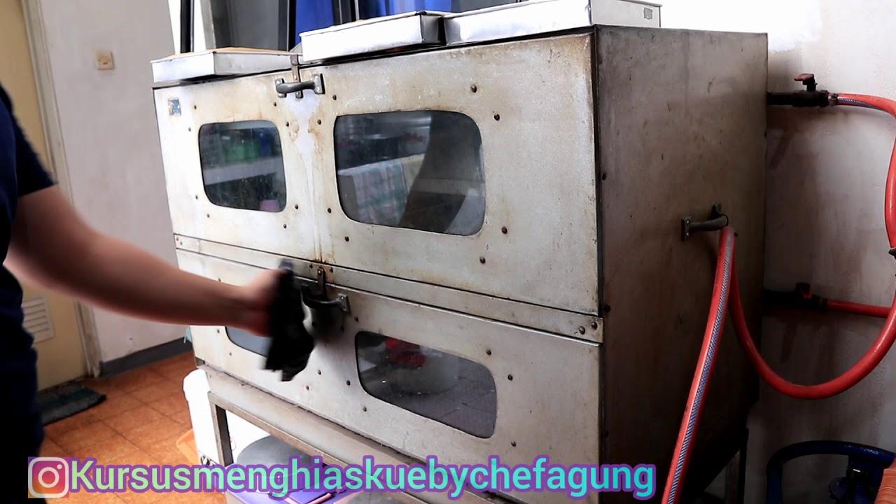 Cara penggang kue,oven gas jadul