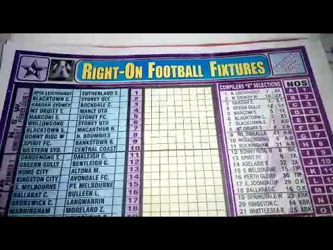 Right-On Aussie Football Pools fixtures for Week 46, 47, and