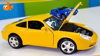 Bburago Toy Cars Construction - PORSCHE 911- Bussy & Speedy Educational Toys videos for kids