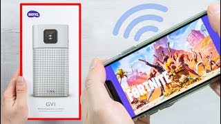 BenQ GV1 - PORTABLE BEAMER - PERFECT FOR FORTNITE, APEX AND PUBG? UNBOXING
