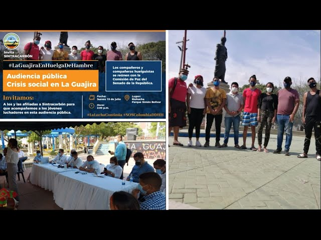 Audiencia pública Crisis Social en La Guajira jóvenes guajiros con Comisión de Paz del Senado