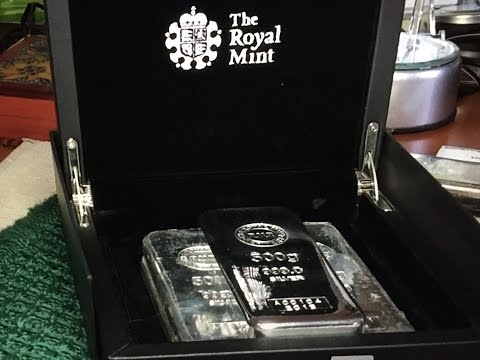 AMAZING RMR 500g .999 Cast Silver Bar from England (low number)