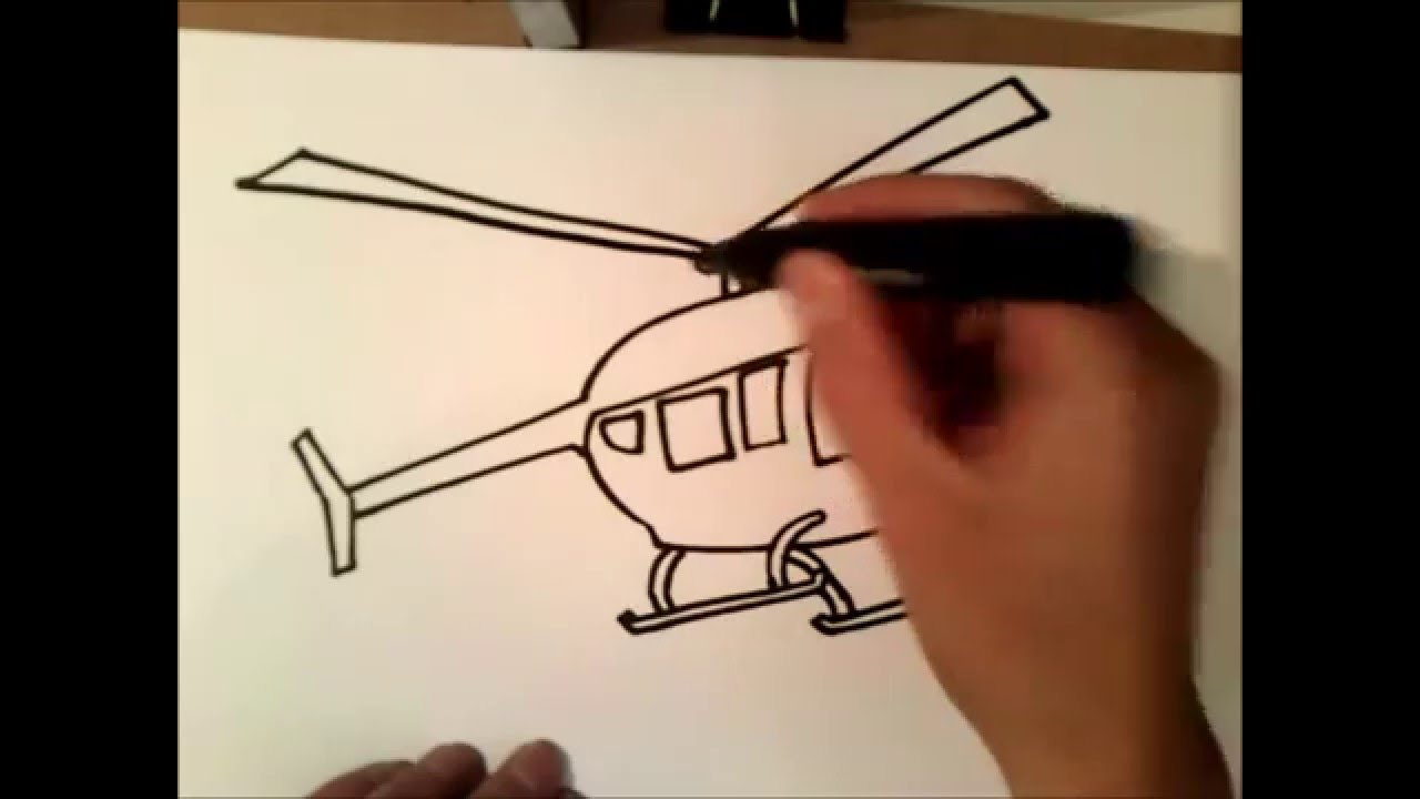 Un Elicottero : Come disegnare un elicottero come disegnare un elicottero passo