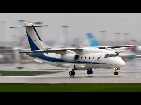 Pratt & Whitney Canada Dornier 328JET (J328) landing & departing Montreal (YUL/CYUL)