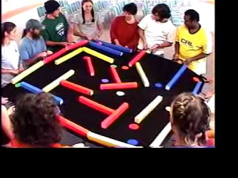 Team labyrinth team building game youtube - Team building swimming pool games ...