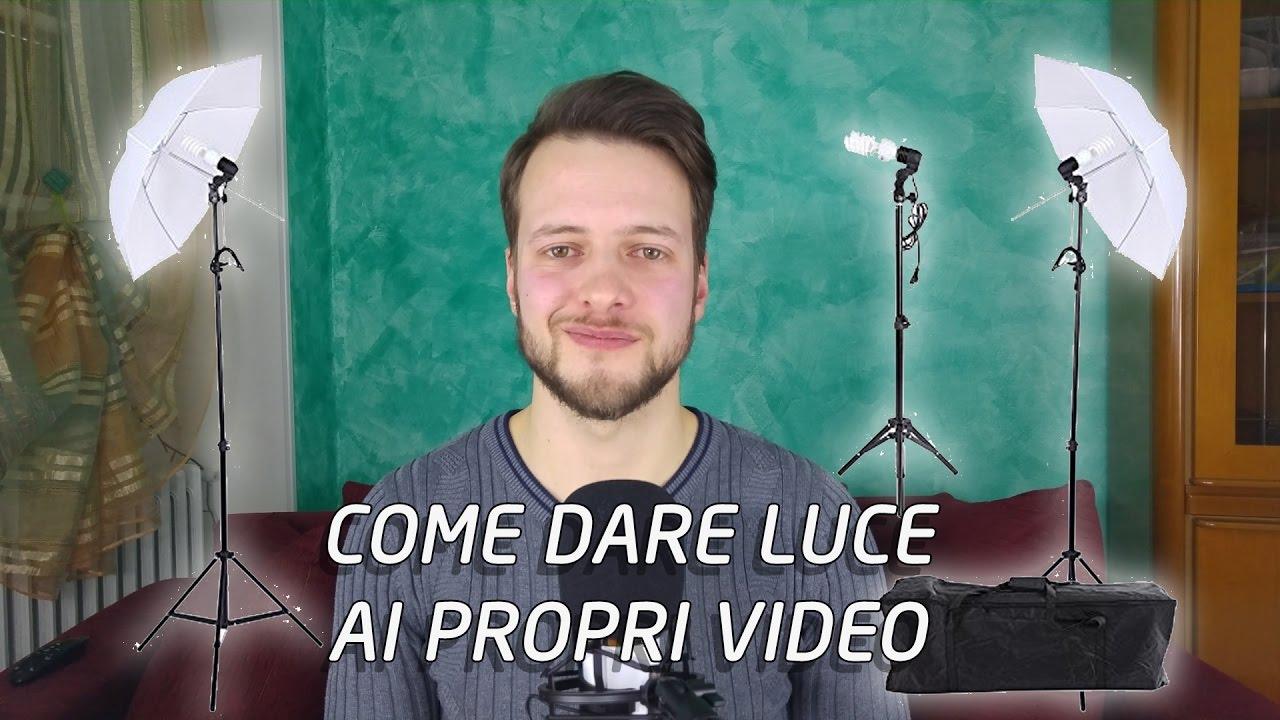 Come illuminare un video? KIT ILLUMINAZIONE FOTOGRAFICA ...
