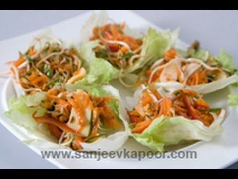 Thai Vegetables in Lettuce Leaf