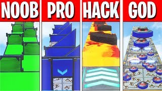 NOOB vs PRO vs HACKER vs GOD Parkour Course! (Fortnite Creative)