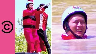 Premature Ejection On The Rope Swing | Takeshi's Castle