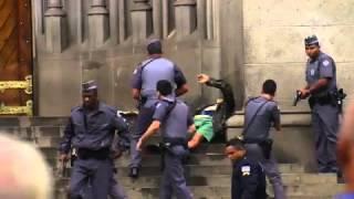Pânico na Band Flagra Tiroteio na Praça da Sé - Brasil Urgente - 04-09-2015