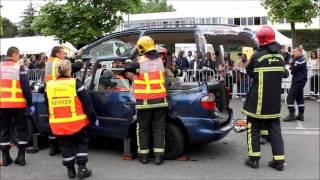 Journée sécurité routière : une démonstration des pompiers mantes-la-jolie