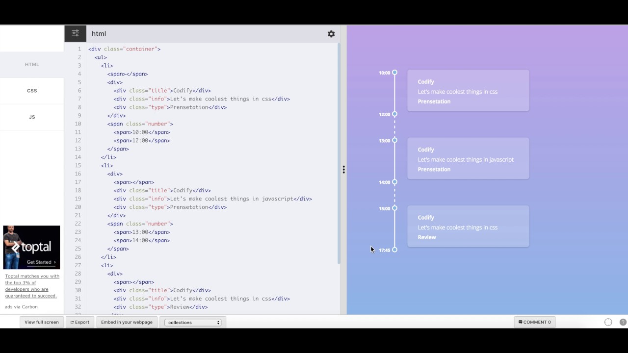 [Teaser] Css animation, SVG, SVG Filters, Css only vertical timeline,  Elastic movements