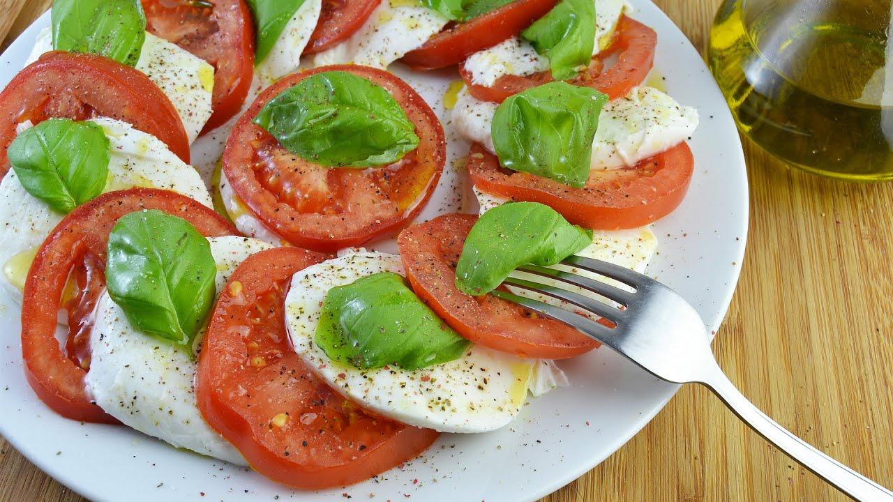 Ensalada caprese recetas de cocina italiana youtube for Comida italiana