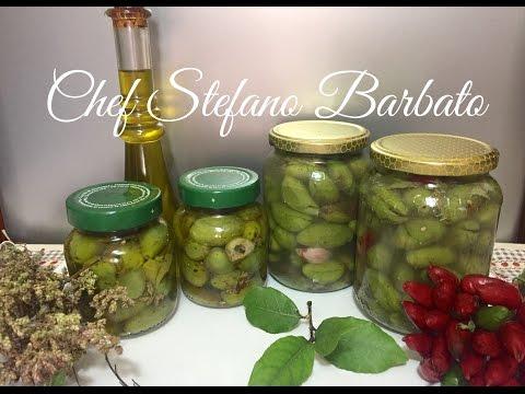 Olive Verdi Schiacciate Sott