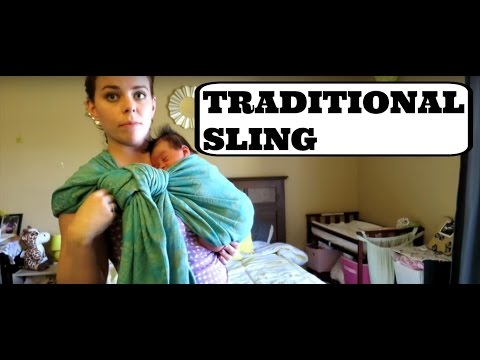 HOW TO USE A SHORT WOVEN WRAP WITH A NEWBORN (Traditional Sling Carry)