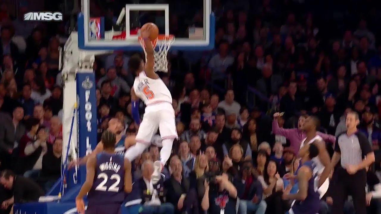 Dennis Smith Jr Crazy High Dunk Shocked The Entire Crowd Knicks