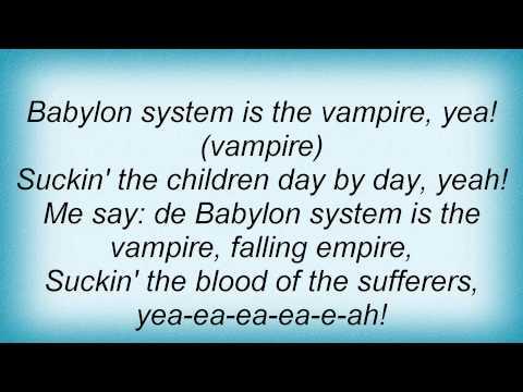 Bob Marley - Babylon System Lyrics_1