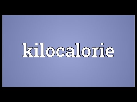 Kilocalorie Meaning