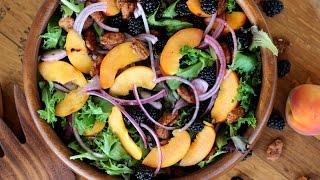 Salad Recipe: Peach & Blackberry Salad By Cookingforbimbos.com
