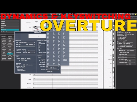 OVERTURE Sample Library Keyswitching and CC MIDI Data