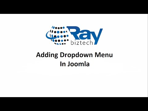 Joomla Adding Drop Down Menu