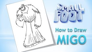 How to Draw Migo from the SMALLFOOT Easy * Drawing on a Drawing Tablet