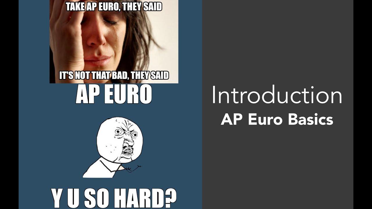 How hard is AP European History?