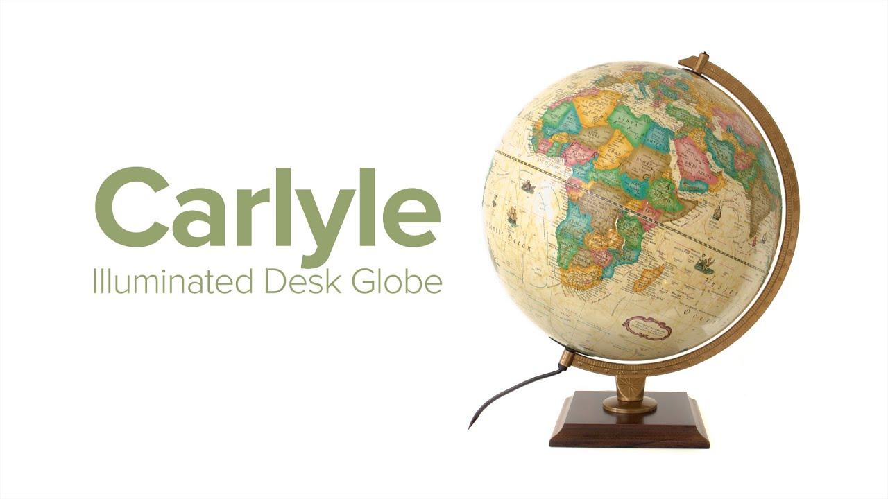 Carlyle Illuminated Desk Globe YouTube