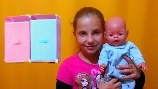 ОБЗОР ПОЛОЧКИ ДЛЯ ОДЕЖДЫ Беби Борна Сережки и других кукол