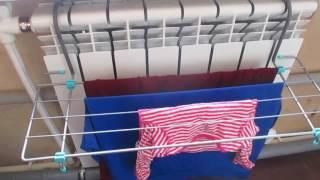 Сушилка для белья на радиатор отопления//деревенская жизнь