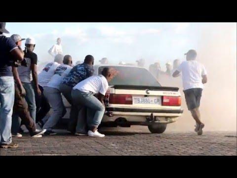 Spin Bash - Car on fire - burning Gusheshe