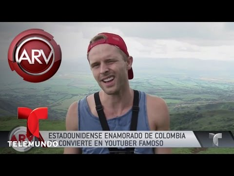 Youtuber estadounidense triunfa en Colombia   Al Rojo Vivo   Telemundo