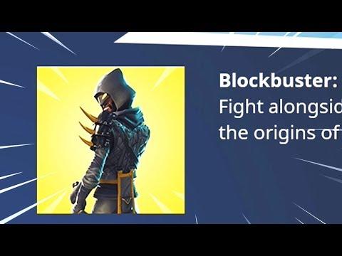 Fortnite BLOCKBUSTER Skin Revealed..? thumbnail