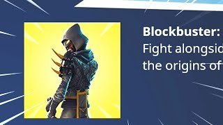 Fortnite BLOCKBUSTER Skin Revealed..?