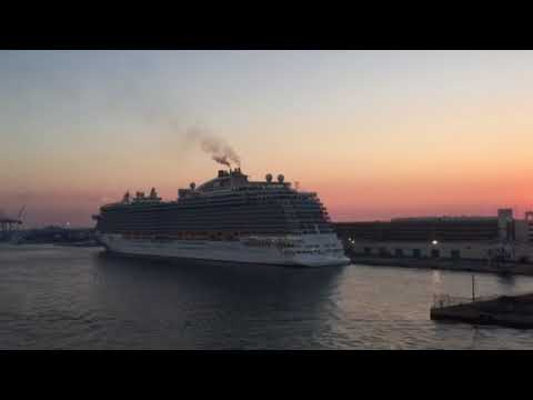 Saturday 12-30-2017-Royal Princess in Port Everglades during Sunset waiting to depart