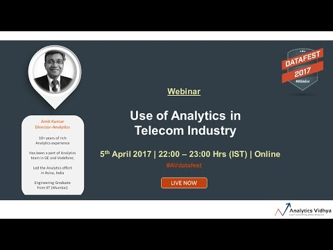 Webinar on Application of Analytics in Telecom Sector - Amit Kumar, Positive Integers